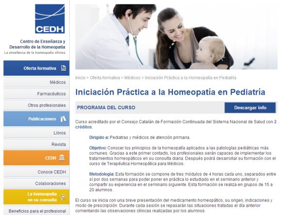 CEDH   La enseñanza de la homeopat�a cl�nica