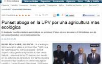 Punset aboga en la UPV por una agricultura más ecológica   Levante EMV