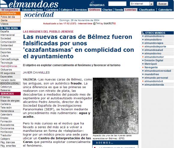 Las nuevas caras de Bélmez fueron falsificadas por unos  cazafantasmas  en complicidad con el ayuntamiento