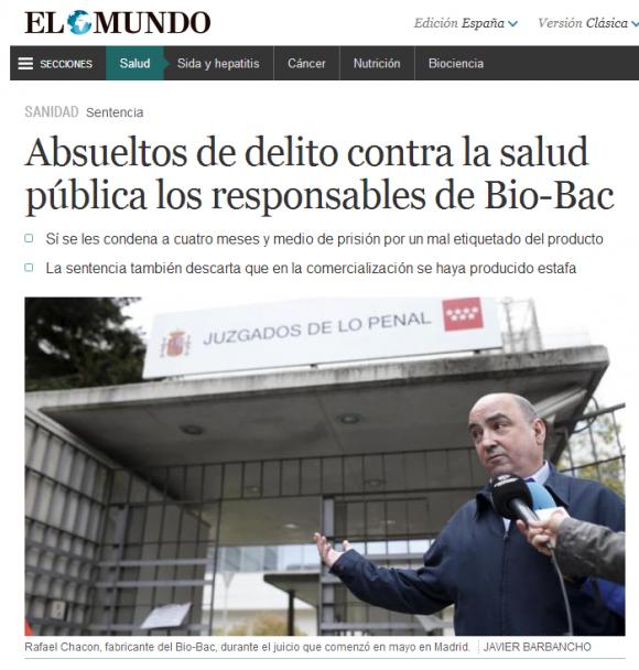Absueltos de delito Bio Bac   Salud   EL MUNDO