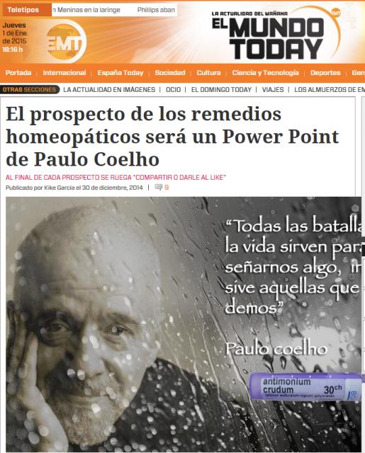 Homeopatía en El Mundo Today