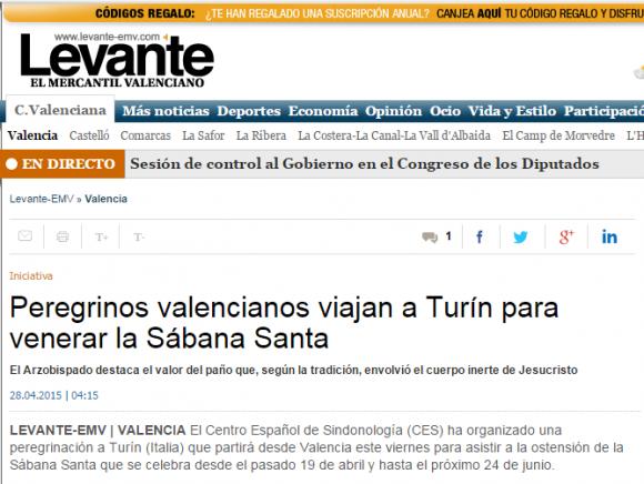 Peregrinos valencianos viajan a Tur�n para venerar la Sábana Santa   Levante EMV