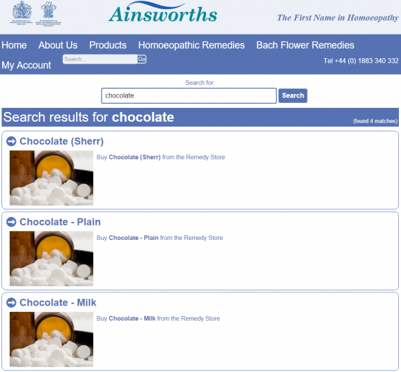 Ainsworths chocolate