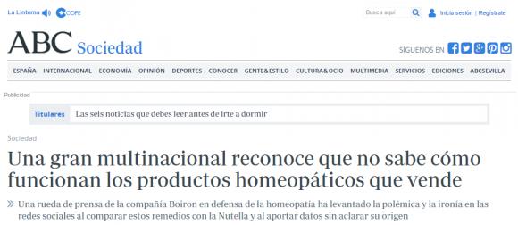 Una gran multinacional reconoce que no sabe cómo funcionan los productos homeopáticos que vende