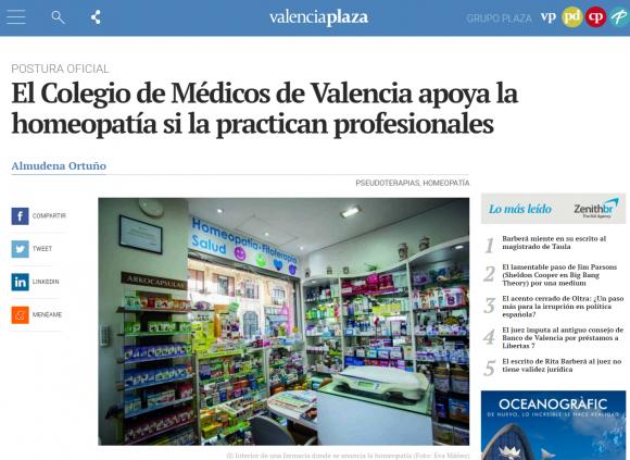 El Colegio de Médicos de Valencia apoya