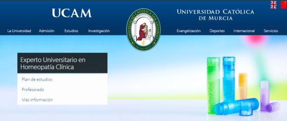 Experto Universitario en Homeopatía Clínica   UCAM Universidad Católica San Antonio de Murcia
