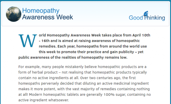 Homeopathy Awareness Week  April 10th 16th. Get the facts on homeopathy.