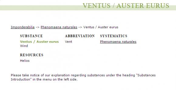 Ventus   Auster eurus