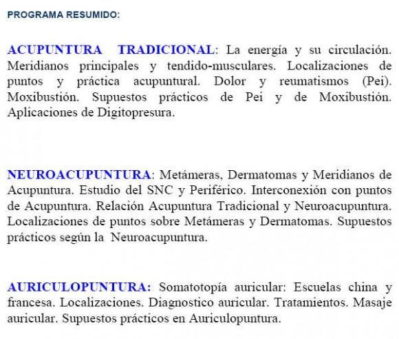 La Universidad de Málaga y la acupuntura