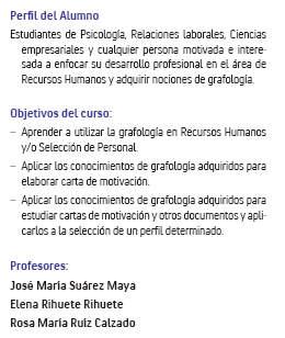 La Universidad de Alcalá de Henares y la grafología