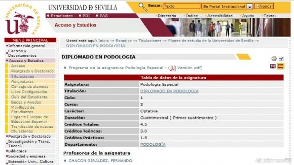 La Universidad de Sevilla, la podología y los pisotones a la ciencia