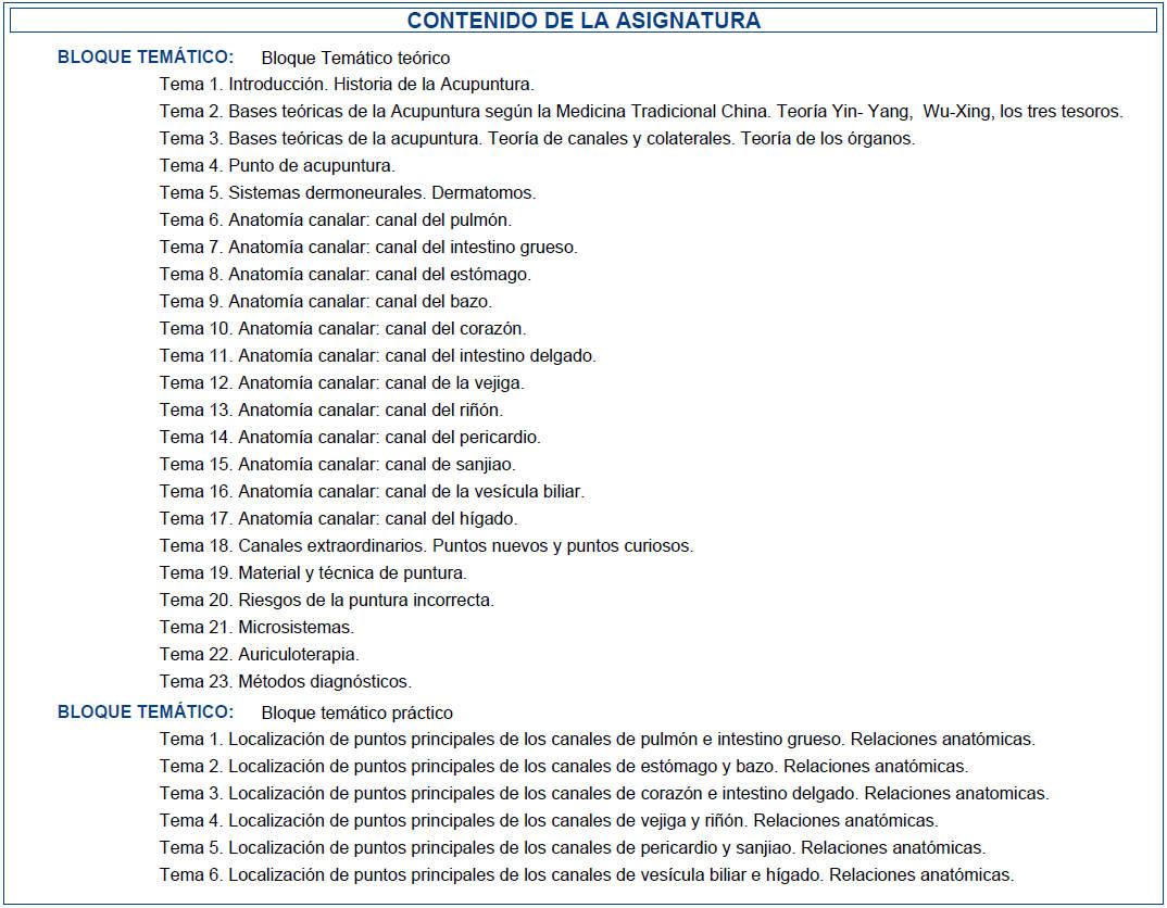 Más acupuntura en la Universidad de Málaga   acupuntura   La lista ...