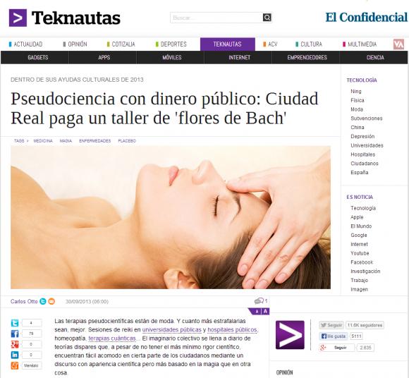 Noticias de Tecnología   Pseudociencia con dinero público  Ciudad Real paga un taller de  flores de Bach