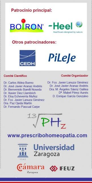 Patrocinadores Jornada Prescribo Homeopatía