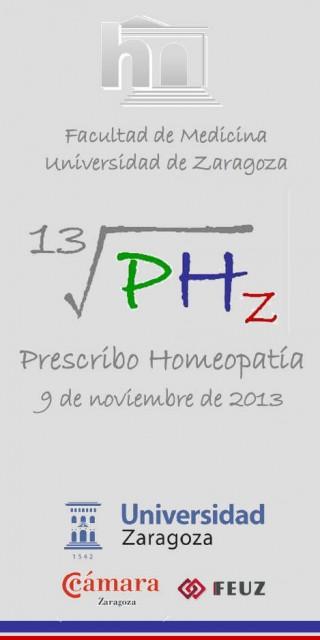"""Portada del tríptico de las jornadas """"prescribo homeopatía"""""""