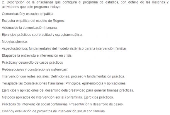 Intervención Social con Familias. Modelos y Métodos Fenomenológicos   Formación Permanente 2