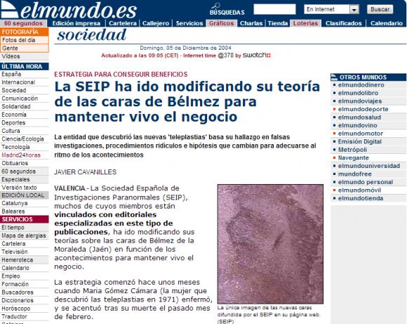 La SEIP ha ido modificando su teoría de las caras de Bélmez para mantener vivo el negocio