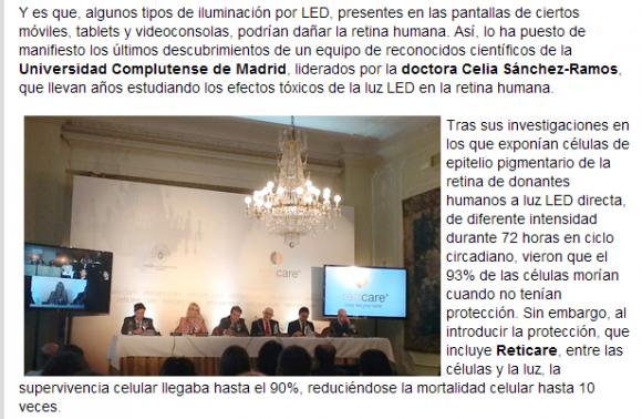 Una patente española protegerá la retina de los usuarios de dispositivos móviles