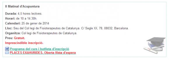 Cursos del Col·legi - Col·legi de Fisioterapeutes de Catalunya (1)