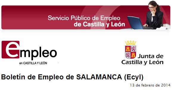 Boletín de Empleo de SALAMANCA 1