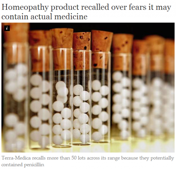 Homeopathy product recalled