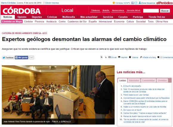 Negando el cambio climático en la Universidad de Córdoba
