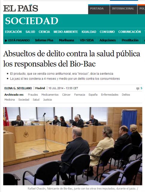 Absueltos  Bio Bac   Sociedad   EL PAÍS