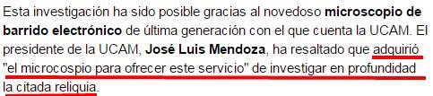 El Sudario de Oviedo tiene el mismo 2
