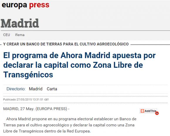 El programa de Ahora Madrid