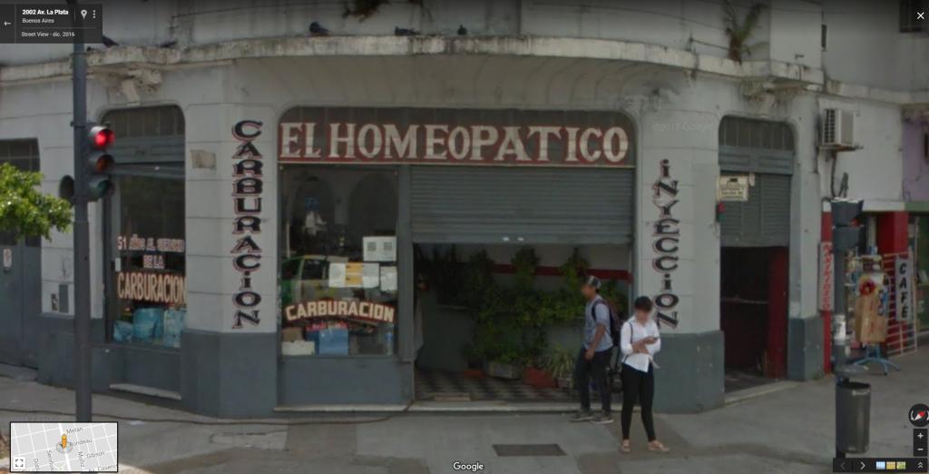"Taller mecánico ""El Homeopático"". Buenos Aires, Argentina."