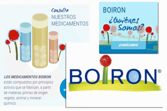 Elementos gráficos de Boiron, exactamente iguales que los de la carta