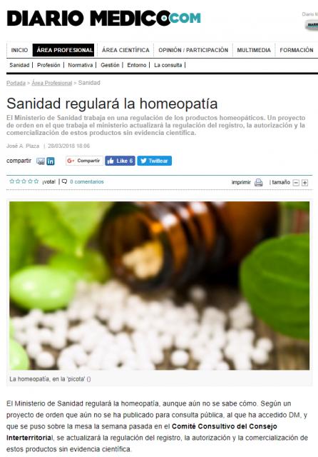 """La noticia en """"Diario Médico"""""""