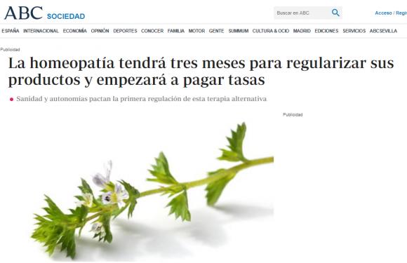 """Titular de ABC: """"la homeopatía tendrá tres meses para regularizar sus productos y empezará a pagar tasas"""""""